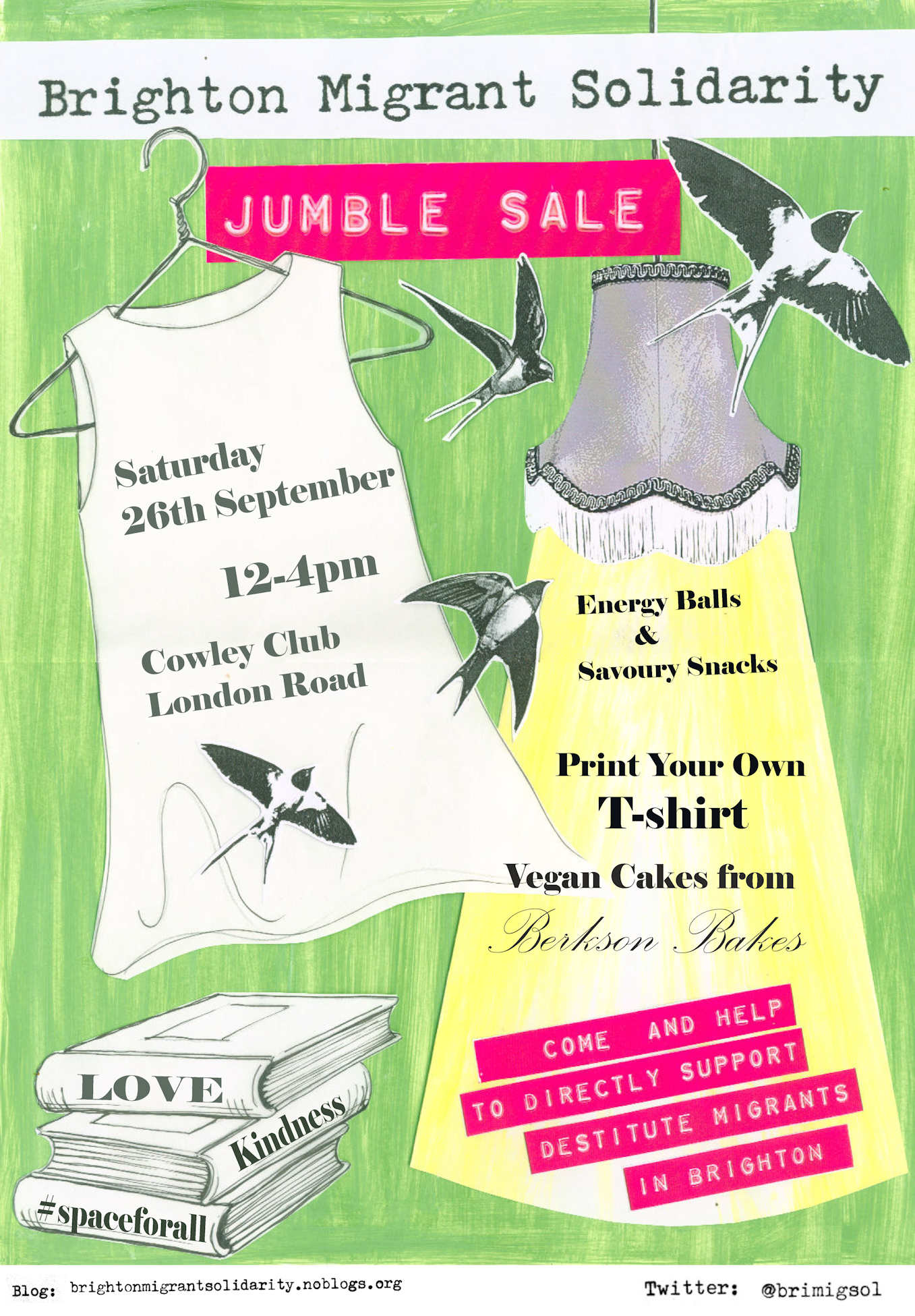 Jumble Sale Poster, 26 sept Cowley Club